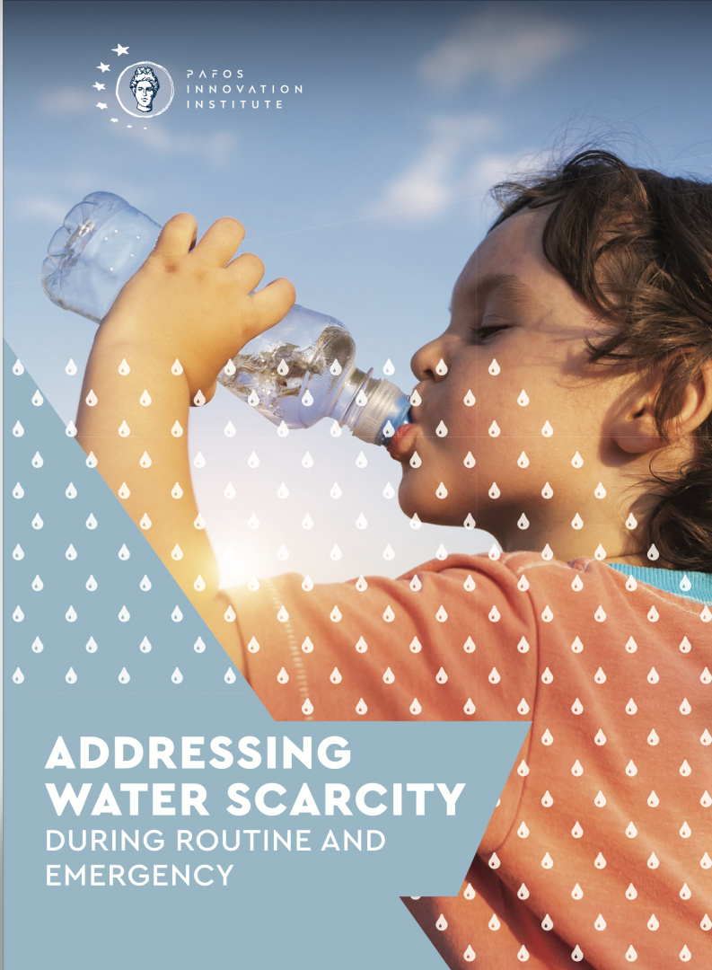 ADDRESSING WATER SCARCITY DURING ROUTINE AND EMERGENCY Brochure Cover